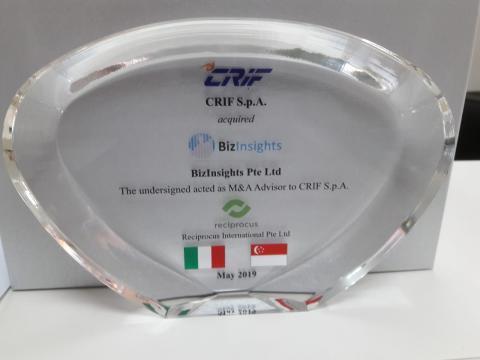 Crif, BizInsights, acquisition, Singapore